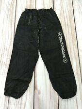 Vintage 90s Shiny Shell Suit Trousers Track Bottoms Mercedes Logo Medium