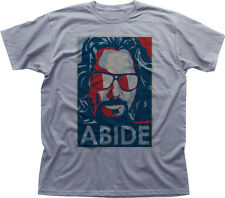 The DUDE ABIDES Big Lebowski ABIDE OBAMA POSTER funny heathe cotton t-shirt 9900