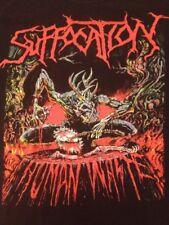 Rare Vintage Suffocation Band Human Waste Shirt sz M Death Metal Grindcore Punk