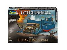 Revell 1:35 LCM Landing Craft y Kit de modelo de vehículos Jeep Con Remolque