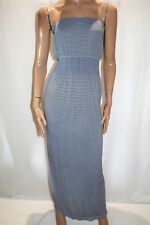 Cherry Lane Brand Blue White Stripe Boobtube Maxi Dress Size S/M BNWT #ST109