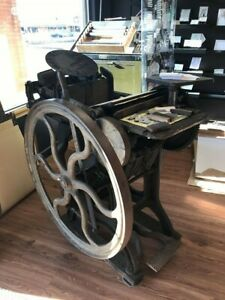 Antique letterpress printing press - 1885 -Chandler and Price