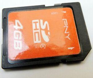 PNY Optima 4GB SD SDHC card Camera memory Genuine OEM SD card