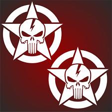 2 Aufkleber  10cm US Army Oldschool Hotrod  Auto Sticker Sticker Retro Sterne F