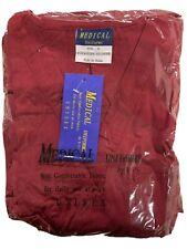 B.I.C.Medical Uniforms Small Red/ Burgandy Nursing Scrub 2 Piece Unisex New