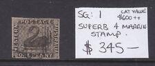 New listing W.A. One Penny Swan Black Sg#1 Superb Used! 4 Margins