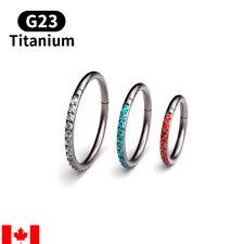 Piercing Daith Nose Ring body jewelry 1Pc G23 Titanium 16G Zircon Septum Clicker