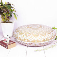 Cover Floor Large Mandala Cushion Pillow Throw Bohemian Case Round Indian Pouf