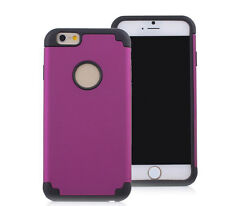 Purple Shockproof Rugged Hybrid Rubber Protective Hard Cover Case For iPhone 7