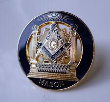 ZP32 All Seeing Eye Masonic Masons lapel pin badge with G Geometry Freemason