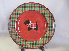 222 FIFTH CHRISTMAS SCOTTY DINNER PLATE IN EXCELLENT CONDITION