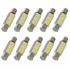 10X Super White 29mm 31mm 5050 3SMD LED Fuse Sun Visor Vanity Mirror Light Bulbs