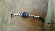 Gemstone Amethyst Pebble Silver Friendship Wish Bracelet Gift Small Present