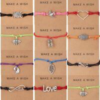 Wish Bracelet Tibetan Charm Friendship Birthday Best Friend Sister Fashion Gift