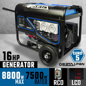 Petrol Generator 8800W Max Electric Start Work Site Camping Portable Power Suppl