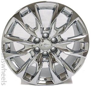 """4 NEW 2021 GM 22"""" Chevy Silverado Tahoe OEM Chrome Wheels Rims #84453001"""