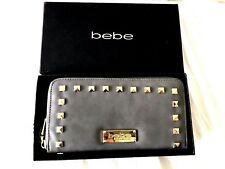 bebe Wallet Grey Jane Zip Around NWT & Box!