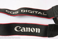"Canon EOS Digital 1.5"" Cotton Classic Camera Strap 3/8"" Loop Blinder USED C156"