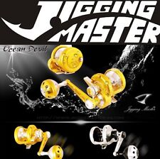 JIGGING MASTER OCEAN DEVIL PE5 RIGHT HANDED REEL GOLD/SILVER