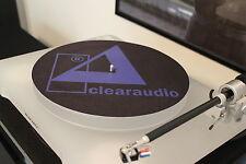 """ClearAudio 7"""" o 12"""" Plato/Plato Giratorio audiófilo HQ Mat Clear Audio Nuevo"""