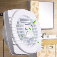 12W 4 inch Wall Mount Ventilation Exhaust Fan Kitchen Bathroom Ceiling White