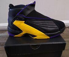 Sz 9 JORDAN Jumpman SWIFT LA LAKERS purple gold AT2555-007 basketball shoes