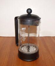 1 Quart Black Colored Bodum French Press Coffee Maker w/Blown Glass Beaker