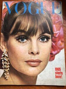 1965 January VOGUE SPECIALIST SHOP Jean Shrimpton Mick Jagger Marianne Faithfull