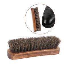 1PC Professional Horse Hair Shoe Shine Boot Polish Buffing Brush Wooden YA9