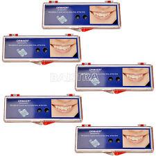 5 Kits ORMAER Dental Ortho Ceramic Brackets Braces 5*5 MBT 0.022 hooks 345 Italy