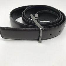 """Kenneth Cole Reaction Mens 42 Brown Leather Belt 1-1/4"""" wide"""