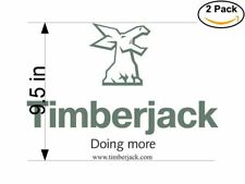 Timberjack 1 2 Stickers 9.5 inches Sticker Decal