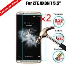 2Pcs X 9H Premium Tempered Glass Cover Screen Protector For ZTE AXON 7 5.5""
