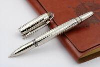 Baoer 79 Executive Metal Rollerball Pen, Chrome with Chrome Trim, Black Ink