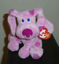 NM* Ty Beanie Baby ~ MAGENTA the Dog (Nick Jr. ~ Blues Clues (Blue's Clue's)) NM
