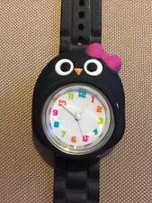 Girls Watch- OWL- Black Band, Needs Battery