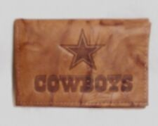 Dallas Cowboys Rawhide Leather Wallet Tri-fold NFL