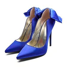 Womens Super High Heels  Pointed Toe Bow Knot Pumps Stiletto Slip On Party Shoes