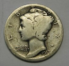 1917-S Mercury Head Silver Dime in Lower Grade Ideal For Beginning Collectors