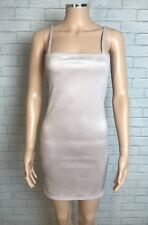 Missguided Faux Suede Square Neck Strappy Mini Dress Nude Size 10