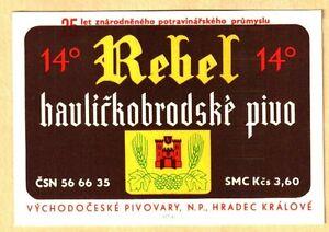 ETICHETTA -REBEL 14% -Boemia Centrale - Birrifici: Hradec Králové N. 107