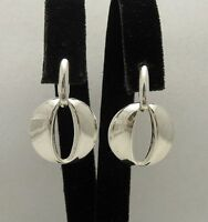 Stylish Sterling Silver Earrings Solid Plain 925 New Perfect Quality Empress