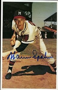 Warren Spahn Signed Jsa Certed Tcma Postcard Authentic Autograph