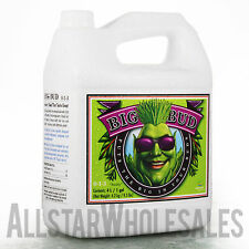 Advanced Nutrients Big Bud Liquid 4L Flower Bloom Hydroponics Additive, 4 Liter