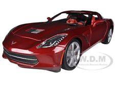 2014 CHEVROLET CORVETTE C7 STINGRAY METALLIC RED 1/18 MODEL CAR BY MAISTO 31182