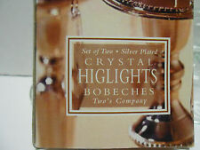 Two's Company Dangling  Bobeches in box--Silver Plated 2 per box