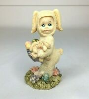 Vintage Child Bunny Easter Figurine Statue Small