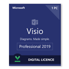 ✅ Instant 1PC's - Official Microsoft Visio Professional 2019 Full Version! 🔑