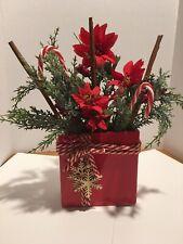 Artificial FLORAL ARRANGEMENT Silk  Table Centerpiece Bouquet Christmas