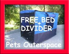 """42"""" XL 3 DOOR Pet Dog Crate Enclosure and Cover Pen Cage Kennel FREE BED + DIVID"""